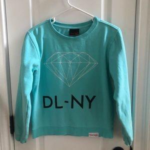 Diamond teal crew neck sweatshirt XS